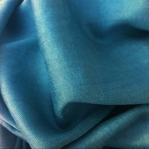 Accessories - Gorgeous 100% Silk Teal Scarf, reversible!
